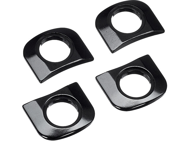 Race Face Tab Shims for Chainrings 4 Pieces, black